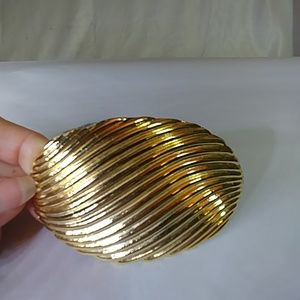 80s DAY-LOR gold plated oval belt buckle